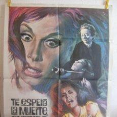 Cine: CARTEL CINE ORIG TE ESPERA LA MUERTE QUERIDA (1965) 70X100 / STEFANIE POWERS / SILVIO NARIZZANO. Lote 110705299