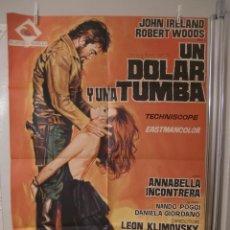 Cinéma: CARTEL CINE ORIG UN DOLAR Y UNA TUMBA (1970) 70X100 / LEON KLIMOVSKY. Lote 110740563