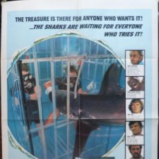 Cine: SHARKS TREASURE MOVIE POSTER, ORIGINAL, 1 SH, 1975. Lote 110750547