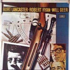Cine: ACCIÓN EJECUTIVA. BURT LANCASTER-ROBERT RYAN. CARTEL ORIGINAL 1974. 70X100. Lote 110768235