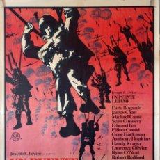 Cine: UN PUENTE LEJANO. MICHAEL CAINE-SEAN CONNERY-ANTHONY HOPKINS. CARTEL ORIGINAL 1976. 70X100. Lote 110768643