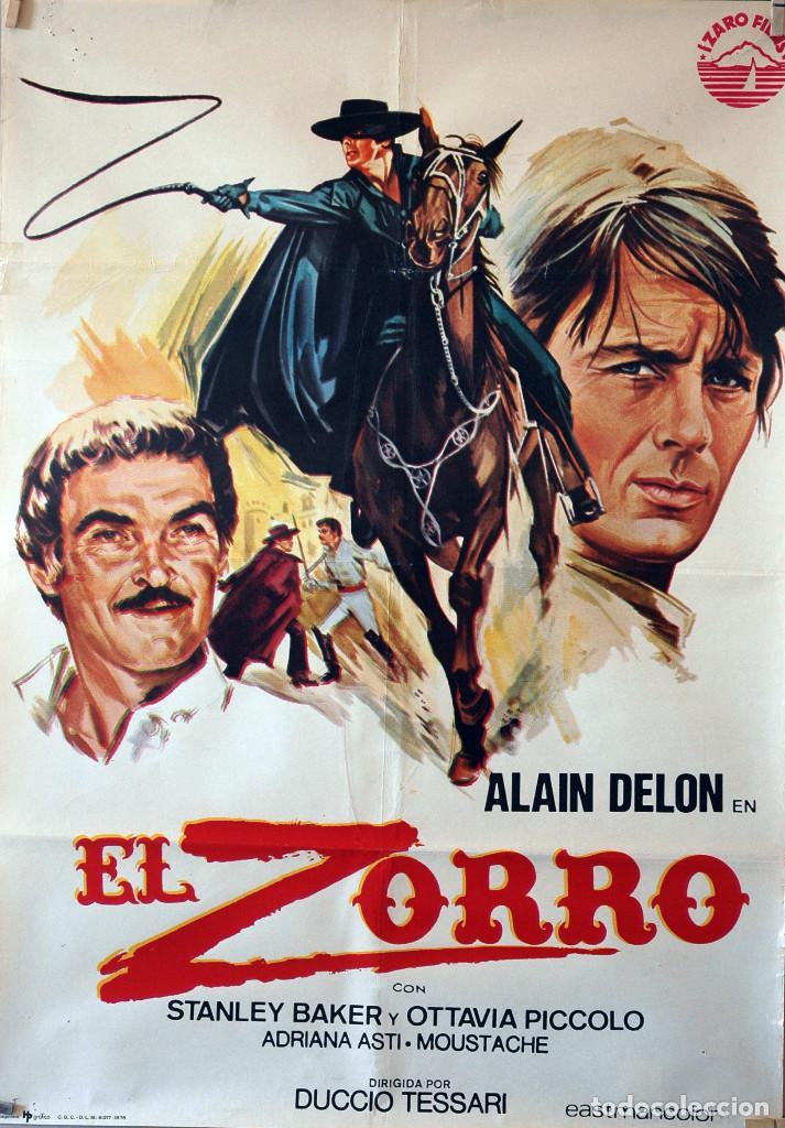 EL ZORRO. ALAIN DELON. CARTEL ORIGINAL 1976. 70X100 (Cine - Posters y Carteles - Aventura)