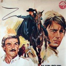 Cine: EL ZORRO. ALAIN DELON. CARTEL ORIGINAL 1976. 70X100. Lote 110769591