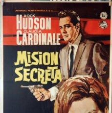 Cine: MISIÓN SECRETA. ROCK HUDSON-CLAUDIA CARDINALE. CARTEL ORIGINAL 1966. 70X100. Lote 110770279