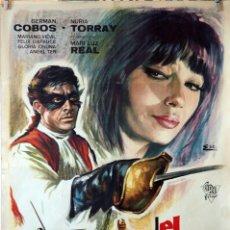 Cine: EL HALCÓN DE CASTILLA. GERMAN COBOS-NURIA TORRAY. CARTEL ORIGINAL 1965. 70X100. Lote 110770651