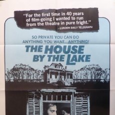 Cine: THE HOUSE BY THE LAKE MOVIE POSTER, 1977,BRENDA VACCARO.. Lote 110830267