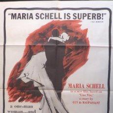 Cine: END OF DESIRE MOVIE POSTER,ORIGINAL,1962. Lote 110831299