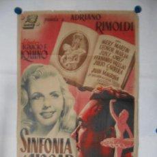 Cine: SINFONIA DEL HOGAR - CARTEL LITOGRAFICO - ORIGINAL 70 X 100. Lote 110891263
