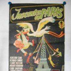 Cine: INOCENTES EN PARIS - CARTEL LITOGRAFICO - ORIGINAL 70 X 100. Lote 110891807