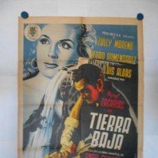 TIERRA BAJA - FIRMADO RENAU - CARTEL LITOGRAFICO - ORIGINAL - 70 X 100