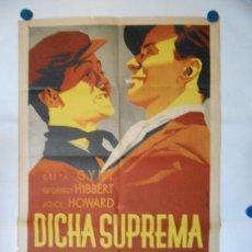 Cine: DICHA SUPREMA - CARTEL LITOGRAFICO - ORIGINAL 70 X 100. Lote 110895455