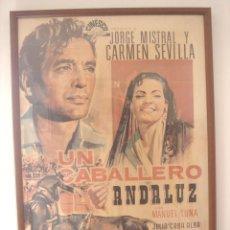 Cine: POSTER CARTEL GIGANTE ENMA. CRISTAL-UN CABALLERO ANDALUZ 1969-PELICULA CARMEN SEVILLA-CINESCO BENZAL. Lote 110920255