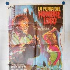 Cine: LA FURIA DEL HOMBRE LOBO - SOLIGO - CARTEL ORIGINAL 70 X 100. Lote 111159267