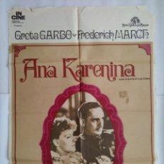 Cine: CARTEL CINE, ANA KARENINA, GRETA GARBO, FREDERICH MARCH, 1974, C274. Lote 111473495