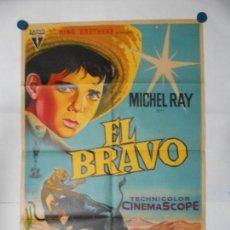 Cine: EL BRAVO - SOLIGO - CARTEL ORIGINAL LITOGRAFICO - 70 X 100. Lote 111663483