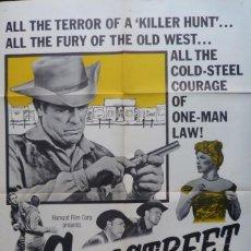 Cine: GUN STREET MOVIE POSTER,1961,JAMES BROWN.. Lote 111820943