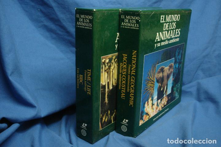 -EL MUNDO DE LOS ANIMALES - 2 ESTUCHES CON 20 DISCOS DE DOCUMENTALES EN FORMATO LASER DISC (Cine - Posters y Carteles - Documentales)