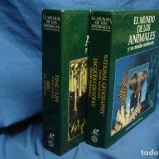 Cine: -EL MUNDO DE LOS ANIMALES - 2 ESTUCHES CON 20 DISCOS DE DOCUMENTALES EN FORMATO LASER DISC. Lote 111872399