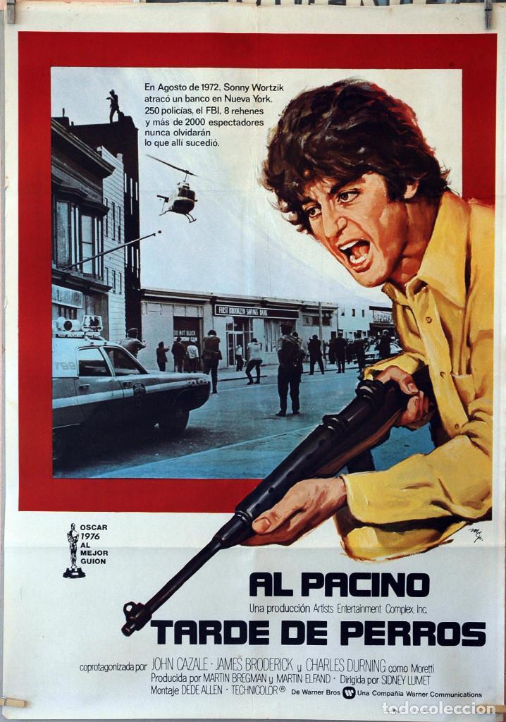 TARDE DE PERROS. AL PACINO. CARTEL ORIGINAL 1977. 70X100 (Cine - Posters y Carteles - Acción)