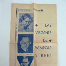 Cine: LAS VIRGENES DE WIMPOLE STREET. PANFLETO PUBLICITARIO ( 49 X 28 CM.. Lote 112051015