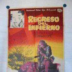 Cine: REGRESO DEL INFIERNO - CARTEL LITOGRAFICO ORIGINAL - 70 X 100. Lote 112203047