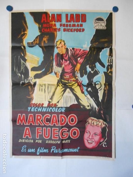 MARCADO A FUEGO - CARTEL LITOGRAFICO ORIGINAL - 70 X 100 (Cine - Posters y Carteles - Westerns)