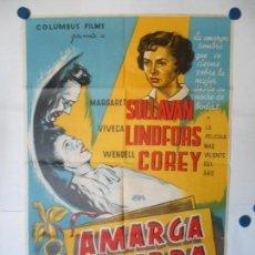 Cine: AMARGA SOMBRA - CARTEL LITOGRAFICO ORIGINAL - 70 X 100. Lote 112205987