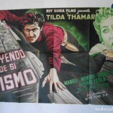 Cine: HUYENDO DE SI MISMO - CARTEL LITOGRAFICO ORIGINAL - 70 X 100. Lote 112206695