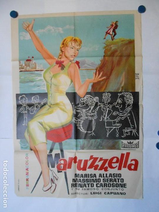 MARUZZELLA - CARTEL LITOGRAFICO ORIGINAL - 70 X 100 (Cine - Posters y Carteles - Comedia)