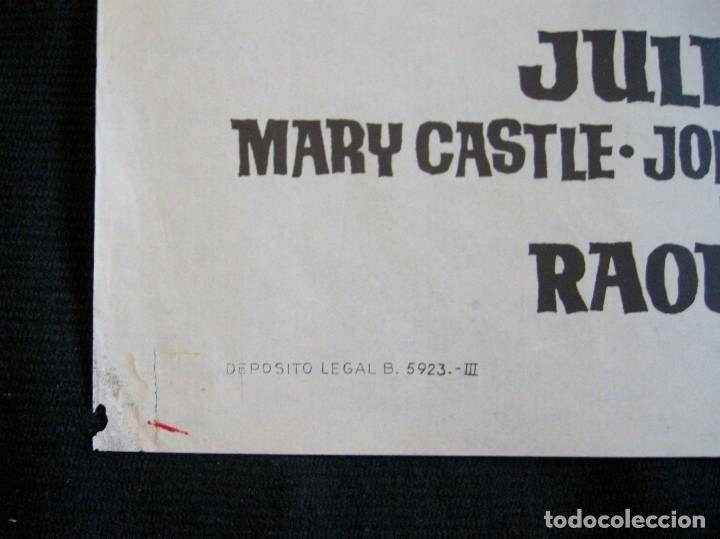 Cine: POSTER ORIGINAL ESPAÑA / 70X100 CM /HISTORIA DE UN CONDENADO / ROCK HUDSON / ILUST. JANO - Foto 3 - 112208947