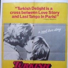 Cine: TURKISH DELIGHT MOVIE POSTER, ORIGINAL, YEAR?. Lote 112358363