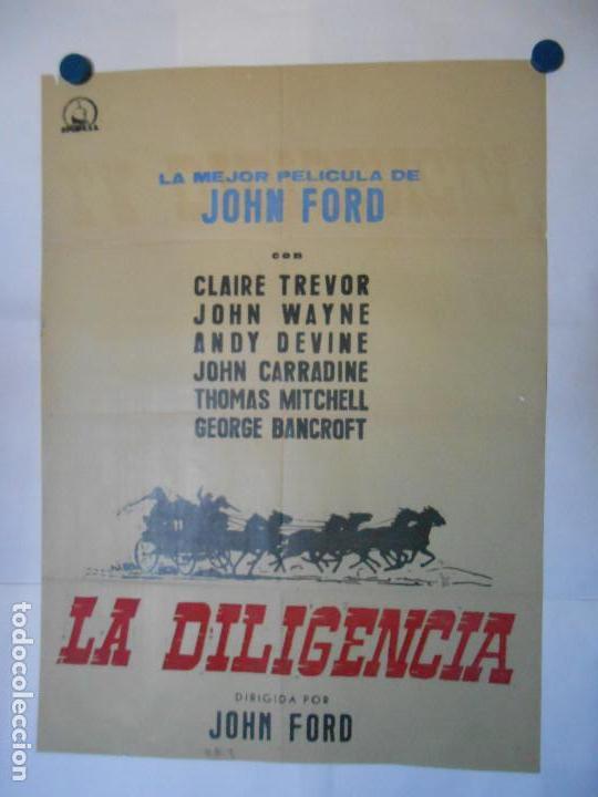 LA DILIGENCIA - CARTEL ORIGINAL 70 X 100 (Cine - Posters y Carteles - Westerns)