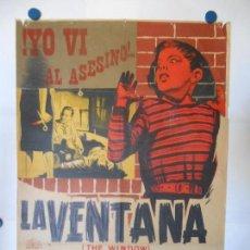 Cine: LA VENTANA - CARTEL LITOGRAFICO ORIGINAL 70 X 100. Lote 112370539