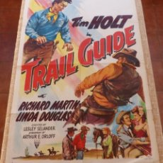 Cine: TRAIL GUIDE MOVIE POSTER, ORIGINAL, FOLDED, ONE SHEET, YEAR 1952, USA, STYLE A. Lote 112667771