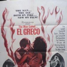 Cine: THE MAN CALLED EL GRECO MOVIE POSTER, 1966, 1 SH, TWENTIETH CENTURY-FOX.. Lote 112727659