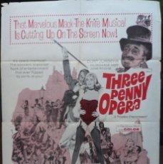 Cine: THREE PENNY OPERA MOVIE POSTER, 1962?, ORIGINAL.. Lote 112867795