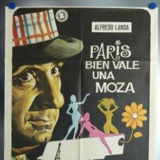 Cine: PARIS BIEN VALE UNA MOZA. ALFREDO LANDA. AÑO 1972. Lote 112872407