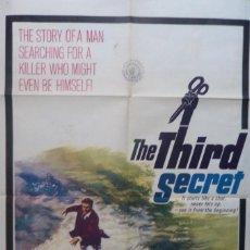 Cine: THE THIRD SECRET MOVIE POSTER, ORIGINAL, 1964, TWENTIETH CENTURY-FOX.. Lote 112913827
