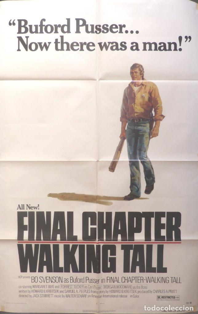FINAL CHAPTER-WALKING TALK MOVIE POSTER, ORIGINAL, 1977 (Cine - Posters y Carteles - Acción)