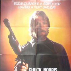 Cine: CODE OF THE SILENCE MOVIE POSTER, ORIGINAL, CHUCK NORRIS, 1985. Lote 112937623