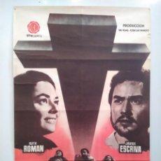 Cine: CARTEL 70 X 100 CM. ORIGINAL MILAGRO A LOS COBARDES. RUTH ROMAN - JAVIER ESCRIVA. Lote 113161703
