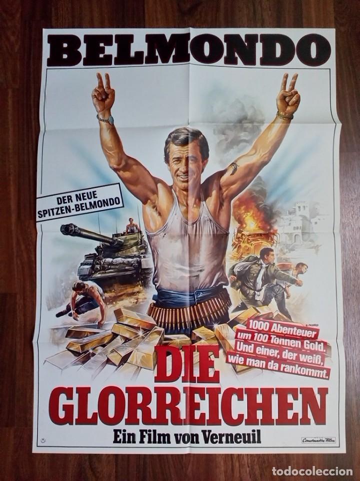 1984- RUFIANES Y TRAMPOSOS-LES MORFALOUS-CARTEL CINE PELICULA ORIGINAL-BELMONDO-GRANDE 84X60 CM (Cine - Posters y Carteles - Aventura)