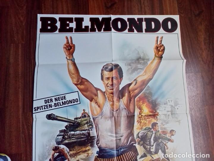 Cine: 1984- RUFIANES Y TRAMPOSOS-LES MORFALOUS-CARTEL CINE PELICULA ORIGINAL-BELMONDO-GRANDE 84x60 CM - Foto 2 - 113211655