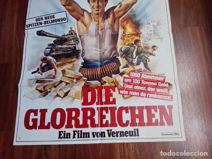Cine: 1984- RUFIANES Y TRAMPOSOS-LES MORFALOUS-CARTEL CINE PELICULA ORIGINAL-BELMONDO-GRANDE 84x60 CM - Foto 3 - 113211655