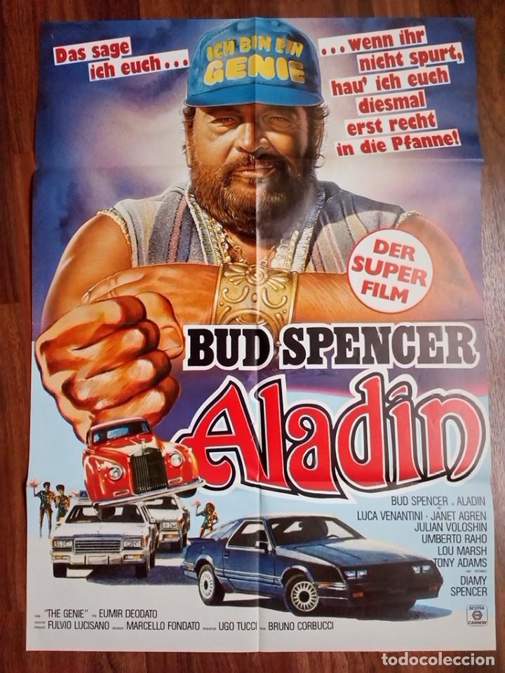 1986- ALADINO-SUPERFANTAGENIO-POSTER CARTEL CINE PELICULA ORIGINAL-BUD SPENCER-GRANDE 84X60 CM (Cine - Posters y Carteles - Aventura)