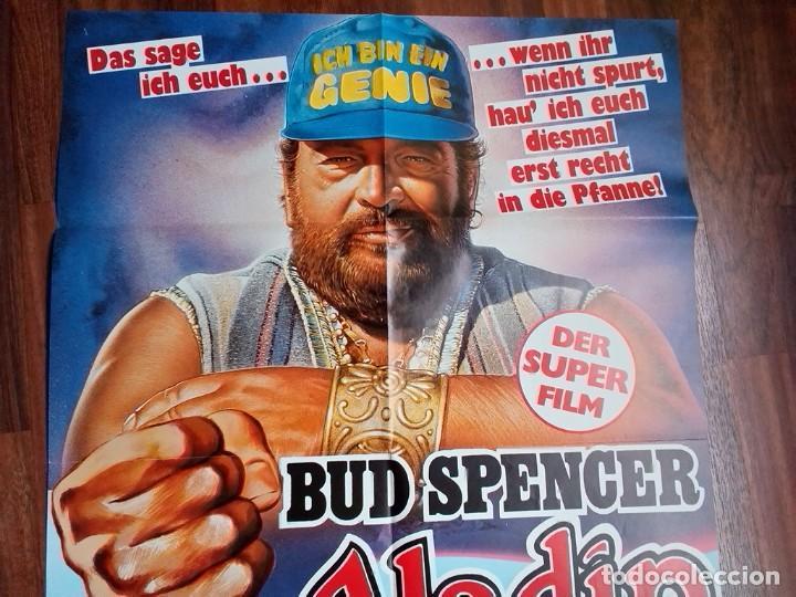 Cine: 1986- ALADINO-SUPERFANTAGENIO-POSTER CARTEL CINE PELICULA ORIGINAL-BUD SPENCER-GRANDE 84x60 CM - Foto 2 - 113211911
