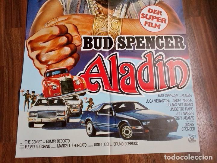 Cine: 1986- ALADINO-SUPERFANTAGENIO-POSTER CARTEL CINE PELICULA ORIGINAL-BUD SPENCER-GRANDE 84x60 CM - Foto 3 - 113211911