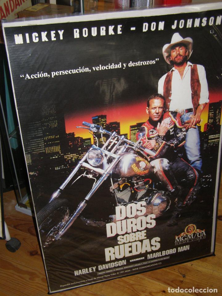 CARTEL ORIGINAL PELICULA DOS DUROS SOBRE RUEDAS 100 X 70 CM (Cine - Posters y Carteles - Acción)