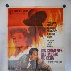 Cine: LOS CRIMENES DEL MUSEO DE CERA - CARTEL ORIGINAL 70 X 100. Lote 113516235
