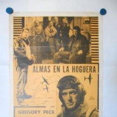 Cine: ALMAS EN LA HOGUERA - CARTEL ORIGINAL ARGENTINO - 80 X 56. Lote 113518539